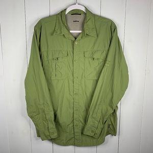 Columbia Titanium Green Sz M Button Up Shirt